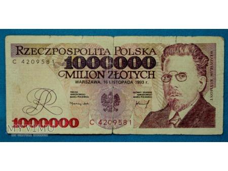 1000000 złotych 1993