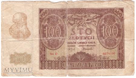 100 zł 1940r.