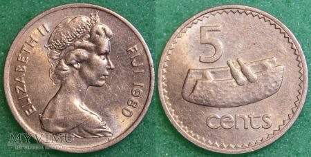 Fidżi, 5 centów 1980