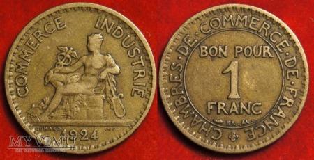 Duże zdjęcie Francja, 1 FRANC 1924