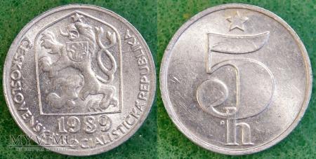 Czechosłowacja, 5 Haléřů 1989