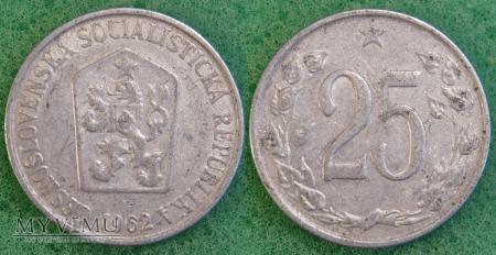 Czechosłowacja, 25 Haléřů 1962