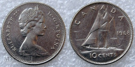 Kanada, 10 CENTS 1968