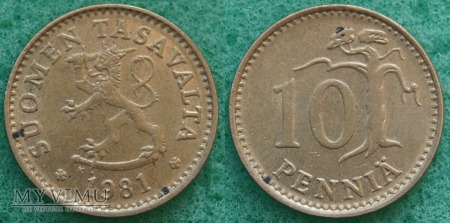 Finlandia, 10 PENNIA 1981