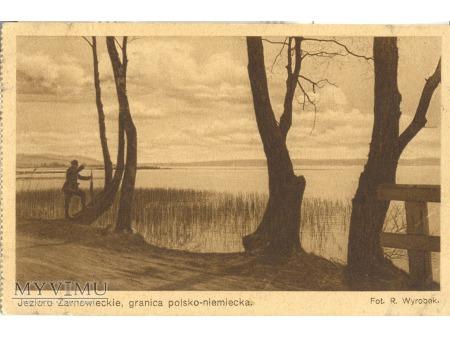 Jezioro Żarnowieckie. Granica polsko - niemiecka.