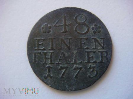 48 einen thaler, 1773, A