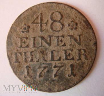 48 einen thaler, 1771, A