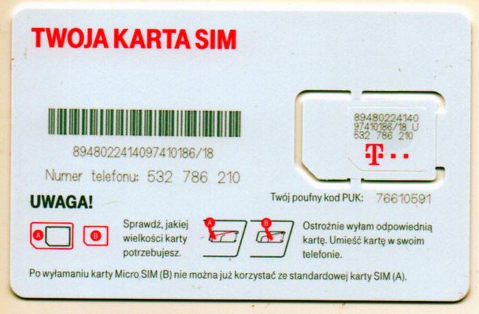 Karta Sim T Mobile Na Karte W Papierosy Zapalki I Inne