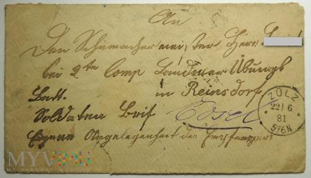 List z Zülz 1881 roku