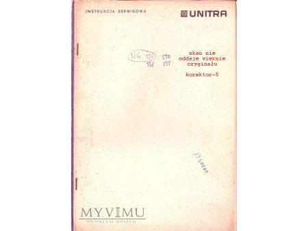 Instrukcja serwisowa gramofonu WG-510