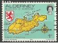 Mapa Alderney.