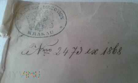 Austro- Węgry dokument Leon Rzewuski 1868