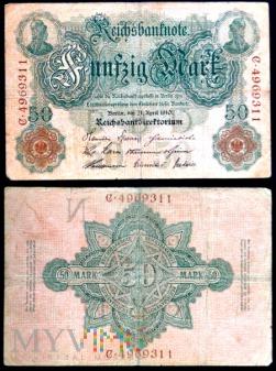 Niemcy, 50 marek 1910r. Ser.C