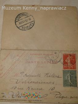 List z Francji do dziewczyny.