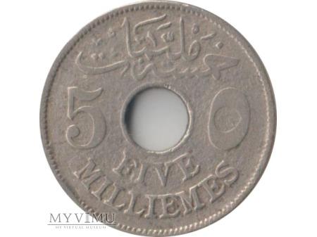 5 milliemes 1917 rok