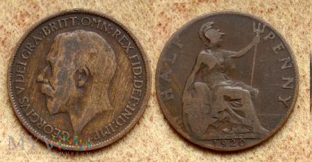 Wielka Brytania, half penny 1920