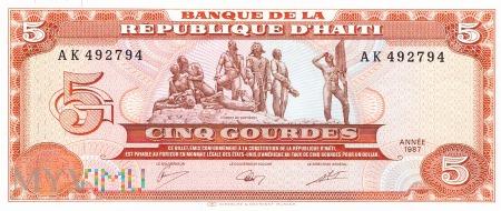 Haiti - 5 gourdes (1987)