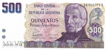 Argentyna - 500 pesos (1984)