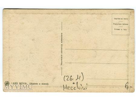 Giovanni Meschini ART DECO pochoir pocztówka