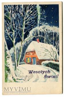 Duże zdjęcie 1950 Wesołych Świąt Wśród Nocnej Ciszy