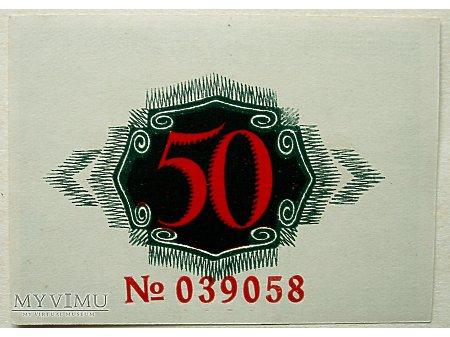 Namysłów- Pieniądz zastępczy 50 Pf