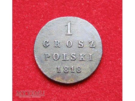 1 grosz Polski 1818 Królestwo Polskie (Kongresowe)