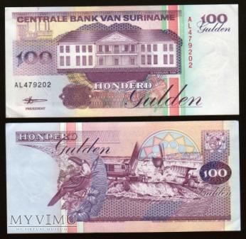 Duże zdjęcie Surinam - P 139b - 100 Gulden - 1998