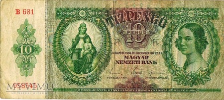 Hungarian 10 pengő 1936