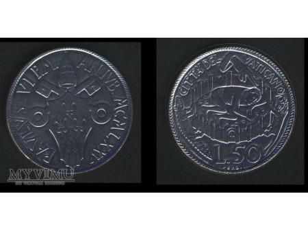 50 lirów PAVLUS VI P.M. ANIVB.MCMLXXV