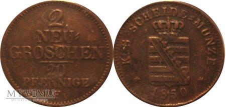 2 neu groschen 1850