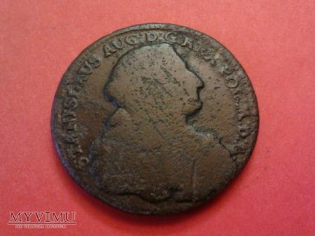 Trojak SAP 1766 popiersie w zbroi.