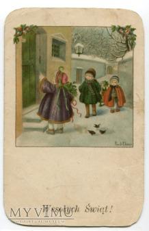 Pauli EBNER c. 1915 Wesołych Świąt Dzieci