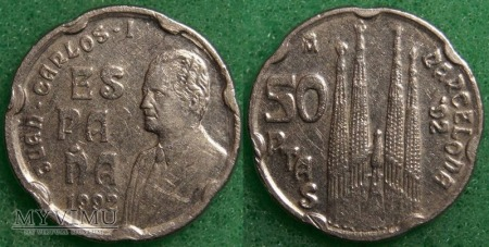 Hiszpania, 50 peset 1992