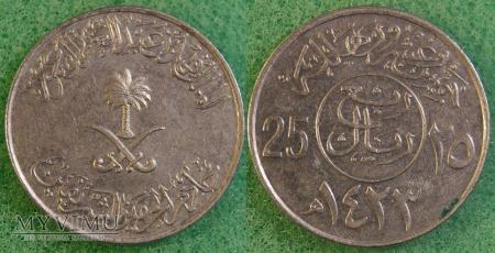 Arabia Saudyjska 25 Halala 2002