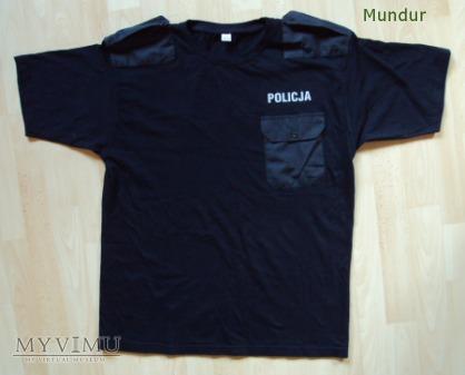 Koszulka czarna policji z pagonami
