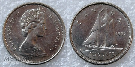 Kanada, 10 CENTS 1972