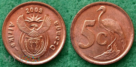 South Africa, 5 cents 2003 Dzonga