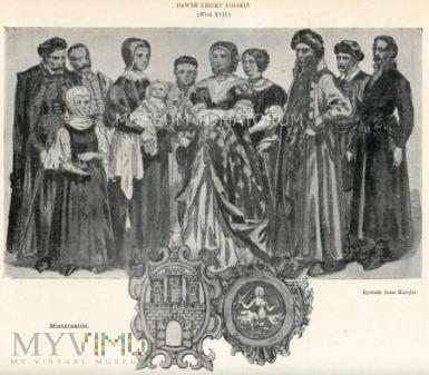 Matejko - Ubiory polskie z XVII w. - Mieszczanie