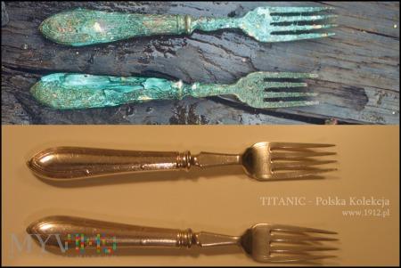 Titanic- oryginalne sztućce do ryb White Star Line