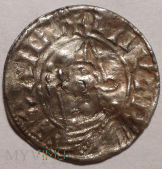 Denar, Kanut Wielki, typ Pointed Helmet,1018-1024