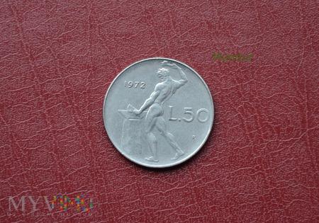 Moneta włoska: 50 lire