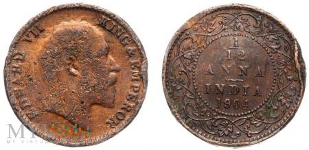 Indie, 1/12 Anna 1904