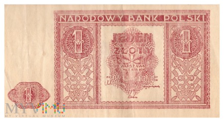 Polska - 1 złoty (1946)