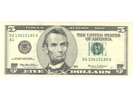 5 USD 1999 FEDERAL RESERVE NOTE