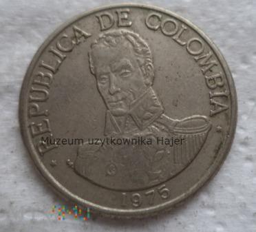 Kolumbia - 1 peso - 1975 rok