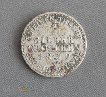 1 silber groschen srebrny grosz 1839