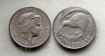 Nowa Zelandia, 1 dollar 2008