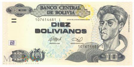 Boliwia - 10 bolivianos (2013)