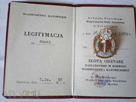 Zasłużony w Rozwoju Województwa Katowickiego