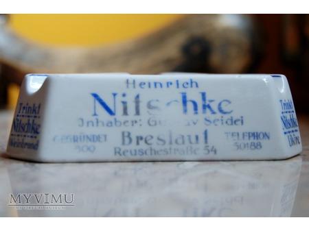 Popielniczka reklamowa Heinrich Nitschke Breslau